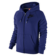 Buy Nike Ralley Futura Full-Zip Hoodie, Deep Royal Blue/Obsidian Online at johnlewis.com