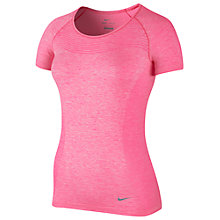 Buy Nike Dri-FIT Running T-Shirt, Hyper Pink Online at johnlewis.com