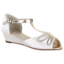 Buy Rainbow Club Children's Indya Peep Toe Wedges, Ivory Online at johnlewis.com