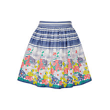 Buy John Lewis Girls' Border Print Skirt, Multi Online at johnlewis.com