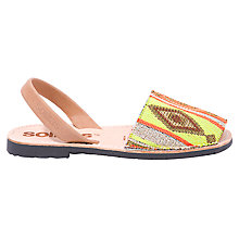 Buy Solillas Original Two Part Sandals, Aztec Print Online at johnlewis.com