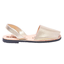 Buy Solillas Original Two Part Sandals, Gold Online at johnlewis.com