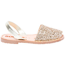 Buy Solillas Original Two Part Sandals, Gold Glitter Online at johnlewis.com