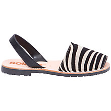 Buy Solillas Original Two Part Sandals, Zebra Print Online at johnlewis.com