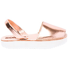 Buy Solillas Flatform Two Part Sandals, Rose Gold Online at johnlewis.com
