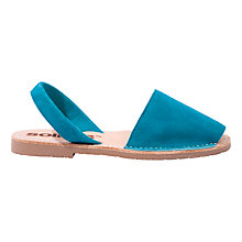 Buy Solillas Original Two Part Sandals, Turquoise Suede Online at johnlewis.com