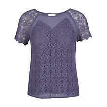 Buy Celuu Elizabeth Crochet Top, Blue Online at johnlewis.com