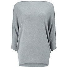 Buy Phase Eight Becca Batwing Jumper, Grey Marl Online at johnlewis.com