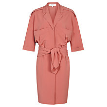 Buy Reiss Arizona Shirt Dress, Roseate Online at johnlewis.com