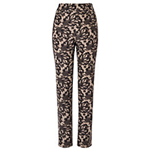 Buy Coast Marbella Lace Trousers, Monochrome Online at johnlewis.com