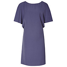 Buy Reiss Lucana Capped Sleeve Dress, Storm Blue Online at johnlewis.com