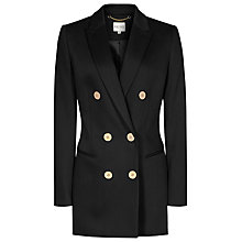 Buy Reiss Lavinnia Double Breasted Coat, Black Online at johnlewis.com