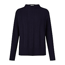 Buy Jigsaw Herringbone Cropped Jumper Online at johnlewis.com