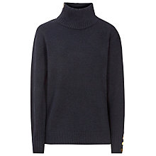 Buy Reiss Asher Zip Roll Neck Jumper, Night Navy Online at johnlewis.com