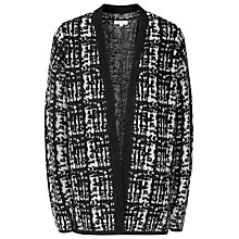 Buy Reiss Nico Textured Cardigan, Off White/Black Online at johnlewis.com