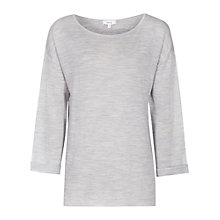 Buy Reiss Polly Lightweight Knit Top, Light Grey Online at johnlewis.com