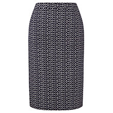 Buy Jigsaw Double Dash Pencil Skirt, Navy Online at johnlewis.com