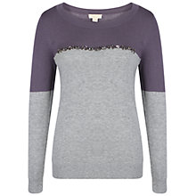 Buy Celuu Darcey Colour Block Jumper, Blue/Multi Online at johnlewis.com