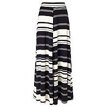Buy Phase Eight Kat Stripe Maxi Skirt, Black/Champagne Online at johnlewis.com