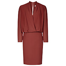 Buy Reiss Wrap-Top Dress, Rouge Online at johnlewis.com