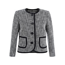 Buy Hobbs Jamila Jacket, Black/Ivory Online at johnlewis.com