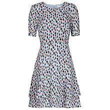 Buy Reiss Jules Printed Dress, Cornflower Blue Online at johnlewis.com