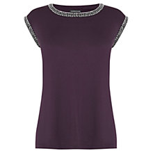 Buy Warehouse Embellished Trim Top Online at johnlewis.com