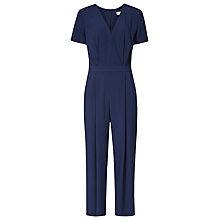 Buy Reiss Corsico Wrap-Front Jumpsuit, Night Navy Online at johnlewis.com