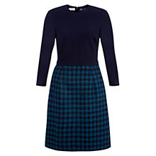 Buy Hobbs Rae Dress, Dark Kingfisher Navy Online at johnlewis.com