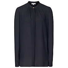 Buy Reiss Holloway Pintuck Blouse, Night Navy Online at johnlewis.com