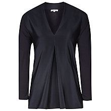 Buy Reiss Jenni Silk Front Top,  Night Navy Online at johnlewis.com