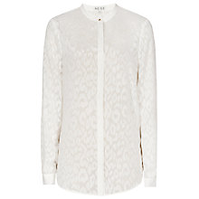 Buy Reiss Day Devore Texture Shirt, Off White Online at johnlewis.com