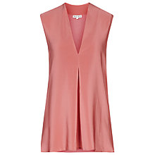 Buy Reiss Sleeveless V-Neck Top, Roseate Online at johnlewis.com