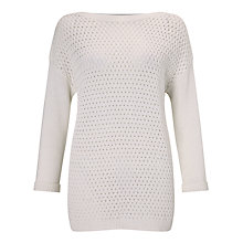 Buy John Lewis Capsule Collection Boat Neck Jumper, White Online at johnlewis.com
