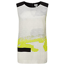 Buy Kin by John Lewis Limited Edition Stainless Abstract Print Top, Multi Online at johnlewis.com