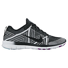 Buy Nike Free TR Flyknit Women's Cross Trainers, Black/White Online at johnlewis.com