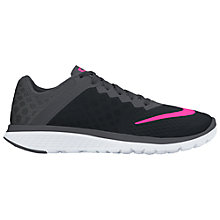 Buy Nike FS Lite Run 3 Women's Running Shoes, Black/Pink Glow Online at johnlewis.com