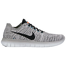 Buy Nike Free RN Flyknit Women's Running Shoe, Wolf Grey/Black Online at johnlewis.com