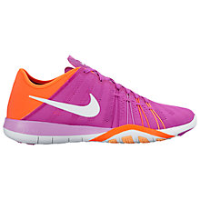 Buy Nike Free 6 Women's Cross Trainers, Purple/White Online at johnlewis.com