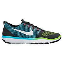 Buy Nike Free Train Versatility Men's Cross Trainers, Black/White/Green Online at johnlewis.com