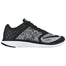 Buy Nike FS Lite Run 3 Print Women's Running Shoes, Black/White Online at johnlewis.com