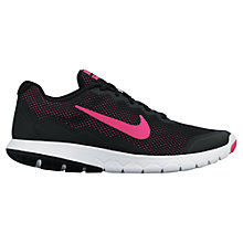 Buy Nike Flex Experience 4 Women's Running Shoes, Black/Pink/White Online at johnlewis.com