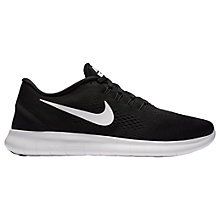 Buy Nike Free RN Men's Running Shoes, Black/White Online at johnlewis.com