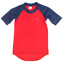 Buy Polarn O. Pyret Children's UV Sun Safe Swim Top, Red/Blue Online at johnlewis.com