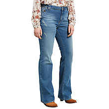 Buy Violeta by Mango Flared Virginia Jeans, Medium Blue Online at johnlewis.com
