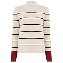 Buy Warehouse Stripe Turtle Neck Jumper Online at johnlewis.com