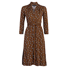 Buy French Connection Diamond Print Dress, Gingerbread/Black Online at johnlewis.com