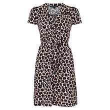 Buy French Connection Anna Animal Tea Dress, Camel Online at johnlewis.com