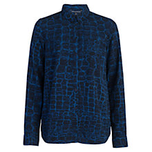 Buy French Connection Alligator Print Shirt, Blue/Multi Online at johnlewis.com