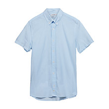 Buy J. Lindeberg Dani Washed Stripe Short Sleeve Shirt, Light Blue Online at johnlewis.com